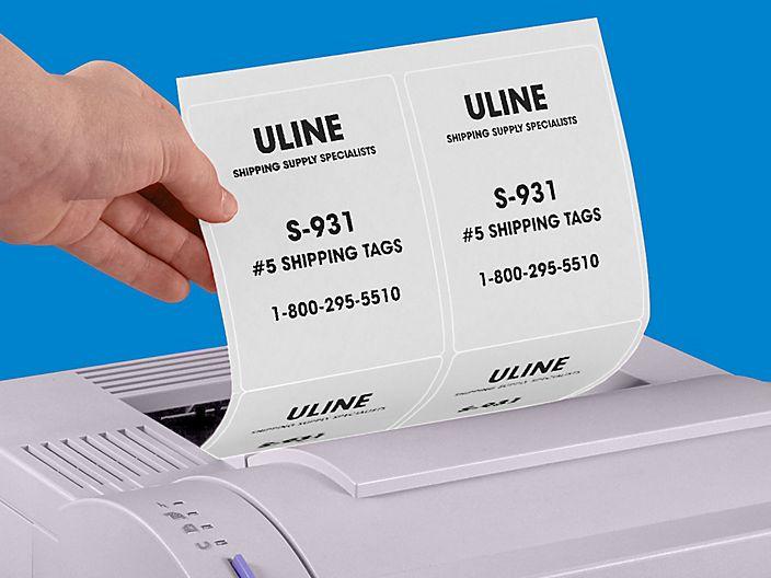 Uline White Laser Labels